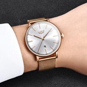 Image 5 - Ligeレディース腕時計トップブランドの高級防水腕時計ファッションの女性ステンレス鋼超薄型カジュアル腕時計クォーツ時計