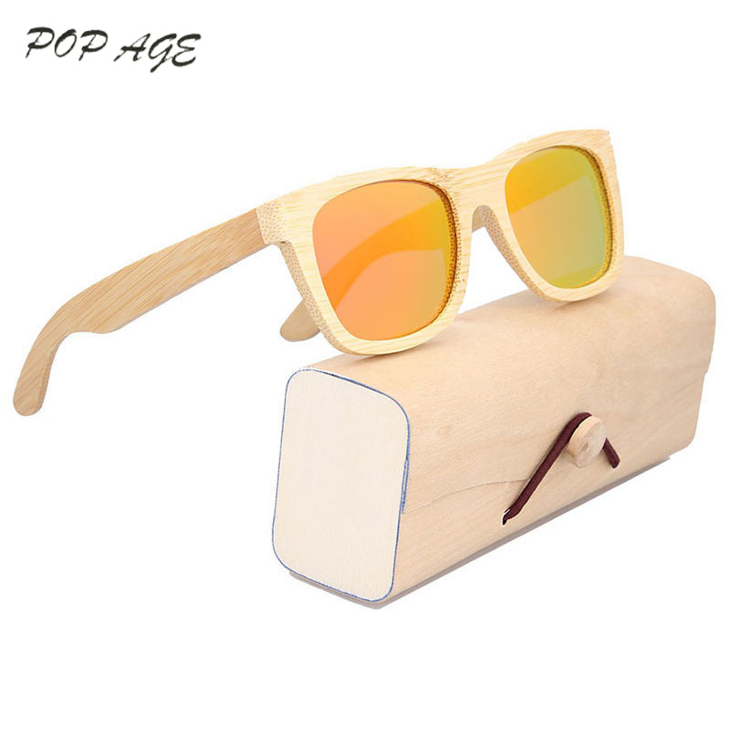 POP AGE Polarized Vintage Glasses Men Brand Wood Mens Sunglasses Eyewear Gafas De Sol De Los Hombres Polarizada <font><b>GB2001</b></font> image