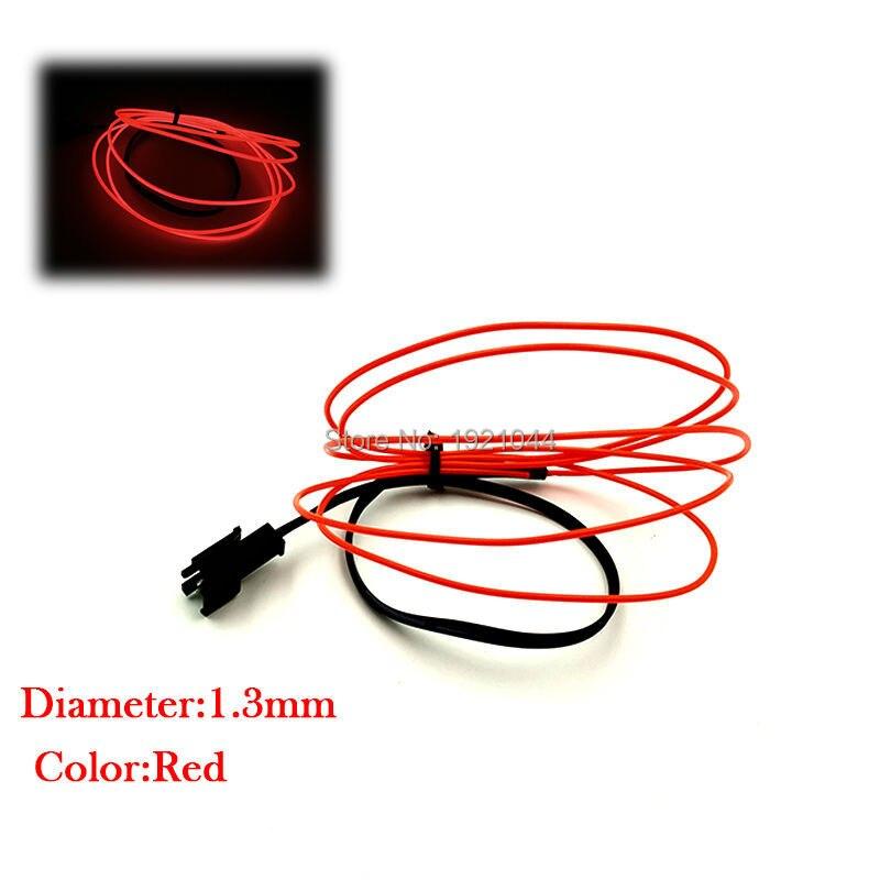 10 krāsas pēc izvēles 1.3mm EL vads neietver vadītāja elektroluminiscējošo virvju cauruļu elastīgu neona gaismu rotaļlietām