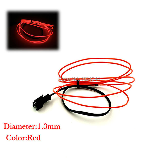10 colors optional 1.3mm EL Wire Not Include Driver Electroluminescent Rope Tube Flexible Neon Light For Toys Party Decoration