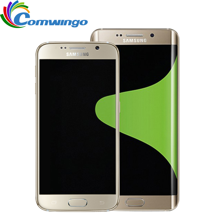 Original Samsung Galaxy S6 G920F G920V G920A teléfono móvil Octa Core 3 GB RAM 32 GB ROM LTE 16MP 5,1