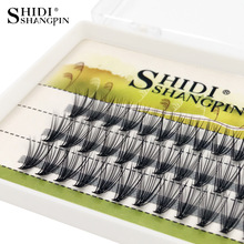 SHIDISHANGPIN 60 PCS eyelashes 0.07mm individual eyelashes C curl 8 10 12mm lashes individual lashes makeup eyelash extension