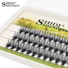 Shidishangpin 60個まつげ0.07ミリメートル個人まつげcカール8 10 12ミリメートルまつげ個人まつげメイクまつげエクステンション