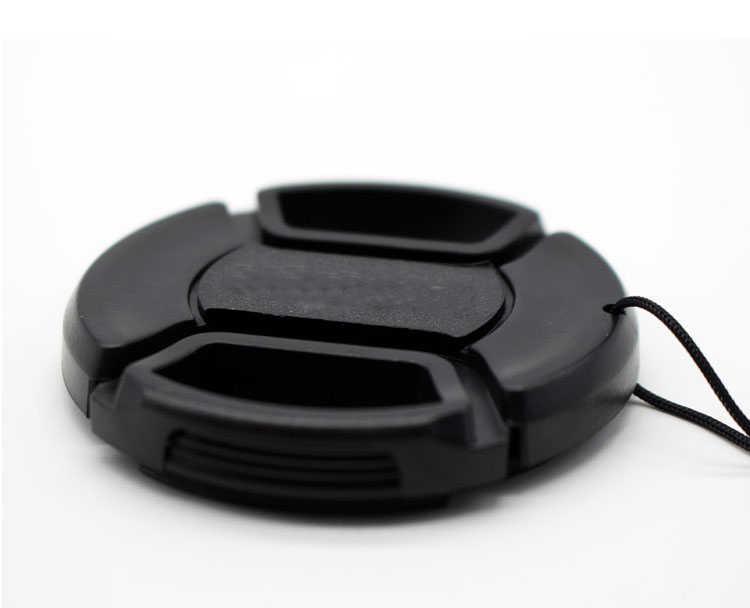 Front lens cap hood bìa snap-on với cord cho nikon d5500 d3400 d3300 d3200 d3100 d5100 d5200 d5300 cho nikon ống kính