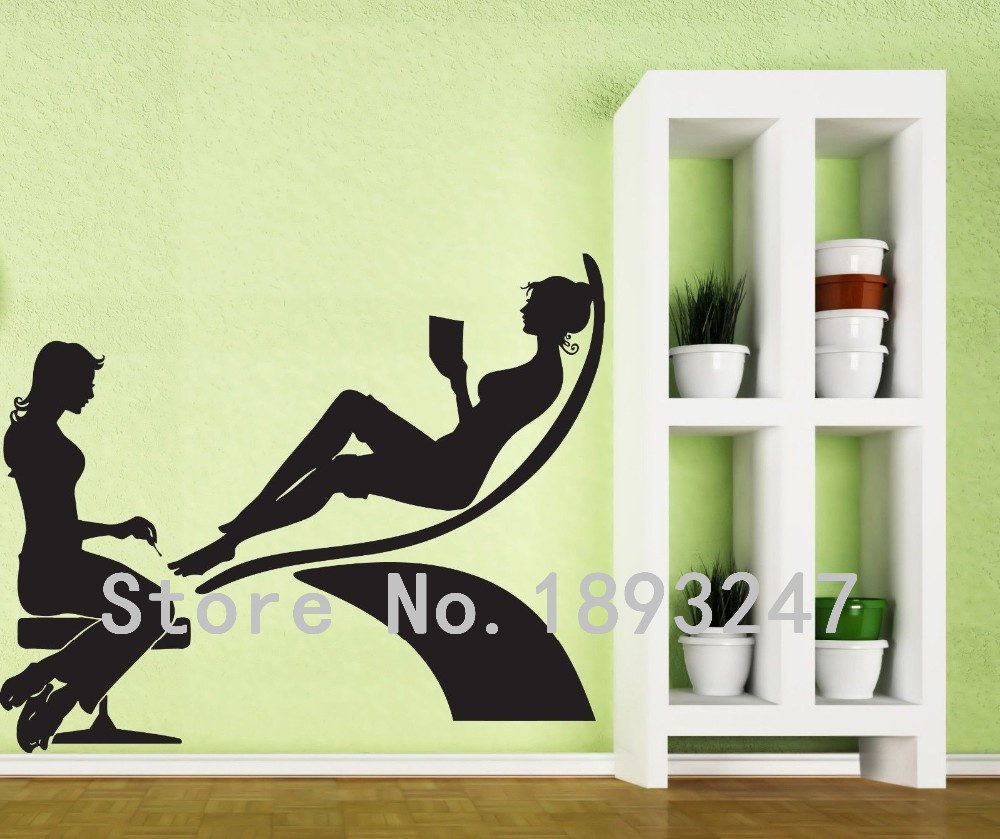 Sexy Girl Nail Hand Nail Salon Manicure Mural Art Vinyl Wall Decal ...