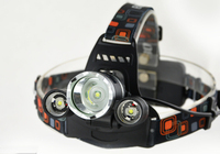 Headlamps RJ 3000 diving headlamp CREE XML T6 R5 led light head rechargeable Head Lamp+USB Cable+AC Charger+2*18650 battery