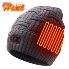 7,4 V батарея шляпа для зимних видов спорта на открытом воздухе с подогревом шапки/шапки вязаная шапка для мужчин и женщин 3 уровня управления шапка унисекс для улицы