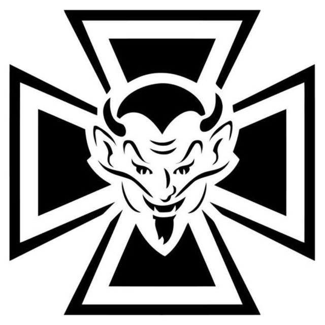 142cm142cm Maltese Cross Devil Symbolic Car Sticker Vinyl Decal