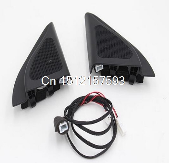 For Hyundai ix25 speakers tweeter car-styling Audio trumpet head speaker ABS material triangle speakers tweeter colcom cc 520d 28mm tweeter component speakers for car audio system black pair