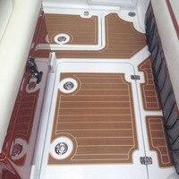 KIWARM 2400x900x6mm Self Adhesive Tailored Large EVA Light Brown Boat Bedroom Flooring Imitation Teak Decking Sheet Pad
