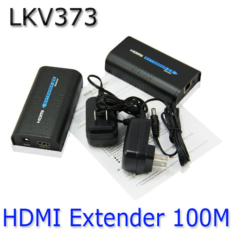 1080P Wireless HDMI Extender Ethernet Network transmitter HDMI Sender + Receiver Model LKV373 For Cat5 CAT6 Cat5e TV Router 80 channels hdmi to dvb t modulator hdmi extender over coaxial