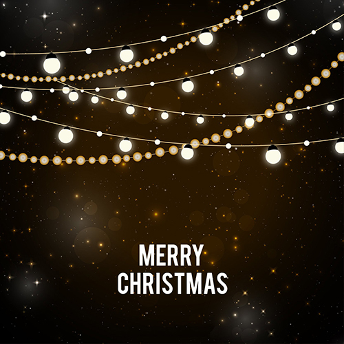 merry christmas white string lights theme backdrop vinyl cloth high quality computer printed wall photography backgrounds