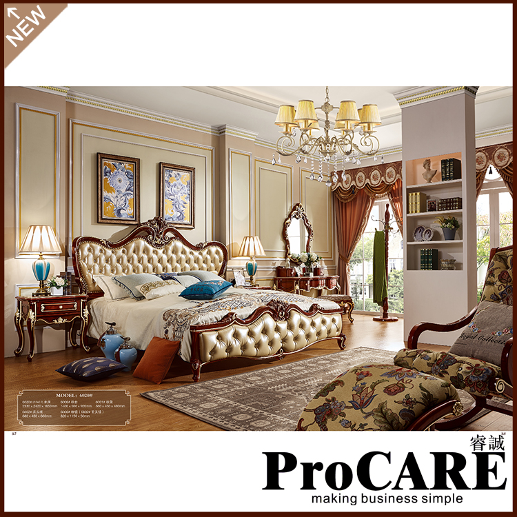 Luxury Bedroom Furniture Stores: Luxury European Style Bedroom Furniture Set Solid Carved