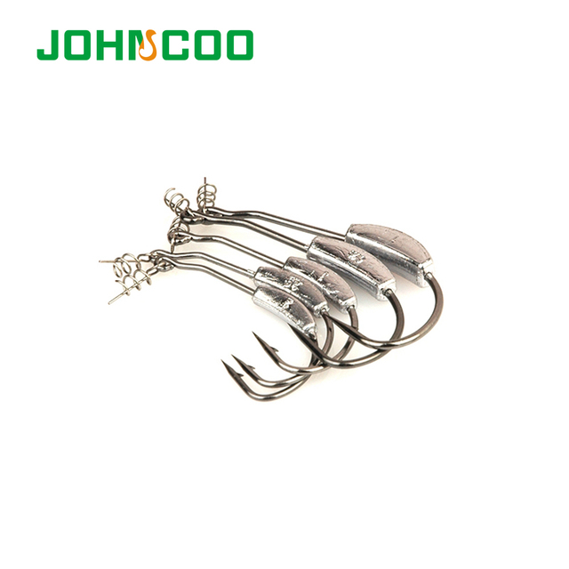 15pcs Barbed Lead Offset Fishing Fish Hook Fit for Texas Carolina Florida Rigs Accessories Fishing Tackle