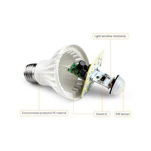 Image 3 - LED veilleuse PIR capteur ampoules mouvement du corps 220V 230V détecteur de mouvement LED lampe escaliers couloir éclairage 5W 7W 9W 12W 18W