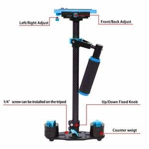 Image 4 - YELANGU S60T Professionele Draagbare Carbon Mini Handheld Camera Stabilizer DSLR Camcorder Video Steadicam