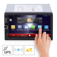 7 Inch HD 1024 600 Capacitive Screen 7 Colorful Light Car MP5 Player DVD Player European