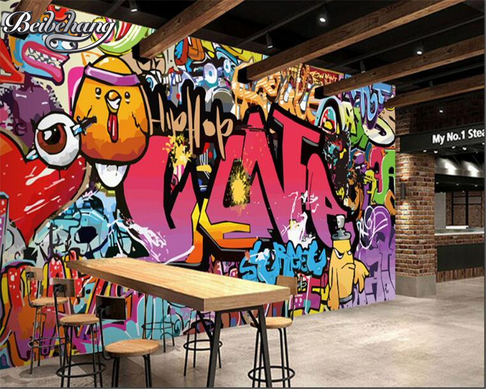 Beibehang wall paper home decor 3D living room bedroom TV background mural letter graffiti photo wallpaper papel de parede