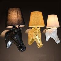Creative Personality DengQiang Corridor Lamp Corridor Wall Lamp Modern Hotel Bedroom Berth Lamp Nordic Horsehead Wall Lamp
