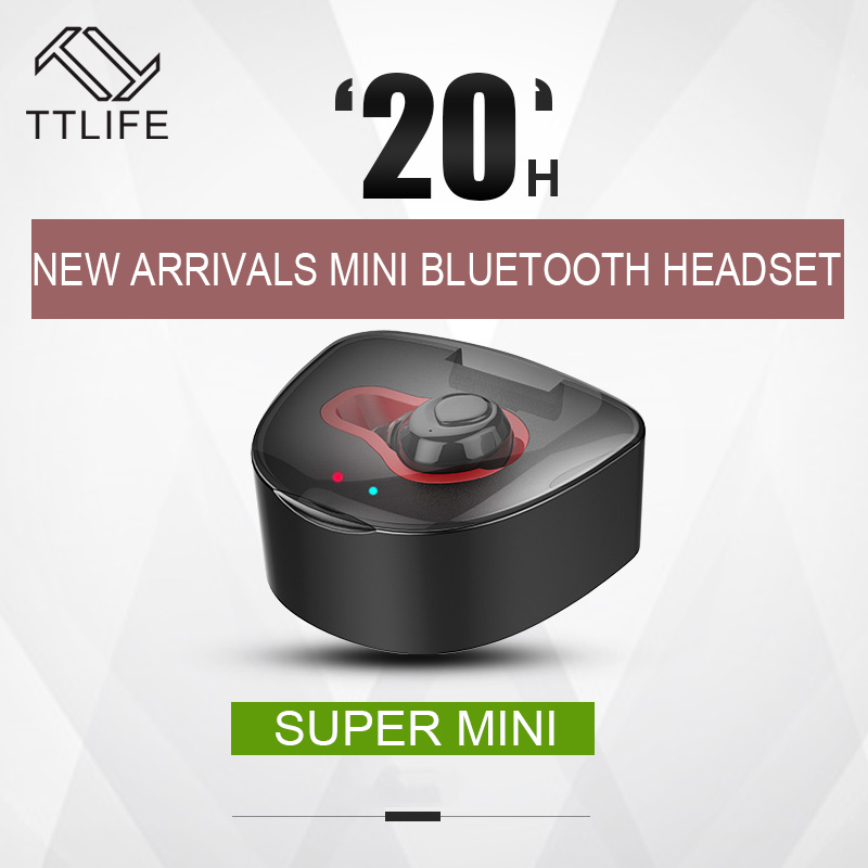 TTLIFE Q7 Fone De Ouvido Bluetooth Earphone Super Mini Wireless Earphones Invisible Handsfree with Mic Charging Box Auriculares 2pcs lot digital tft screen zipper car pillow headrest cd dvd player monitor usb fm 32 bit game disc remote with 2xir headsets