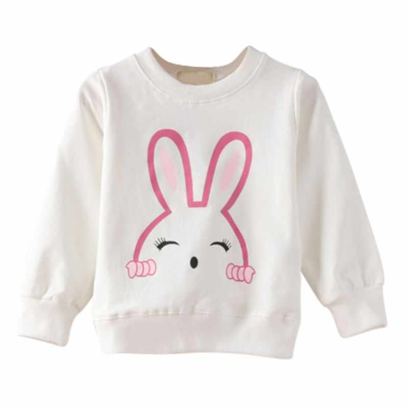 Girl Tops Spring Autumn Baby Rabbit Cotton Long Sleeve T-shirt Children Clothes Kids Long Sleeve Tops Tees Blouse For Girls