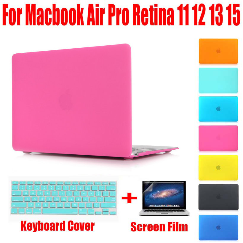 Laptop Case Mat Shell za Apple Macbook Zrak / Retina / Pro 11 12 13 15 Laptop rukav 13.3 inča 11.6 15.4 Prijenosno računalo NO Logo