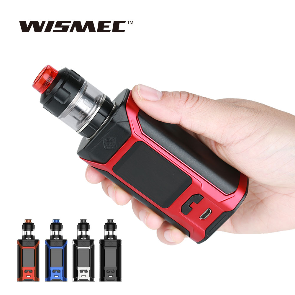 WISMEC SINUOUS RAVAGE230 200W TC Kit with 2ml/4ml GNOME Evo Tank Huge Power No 18650 Battery E-cigarette Vape Kit Vs RX GEN3 Kit цена 2017