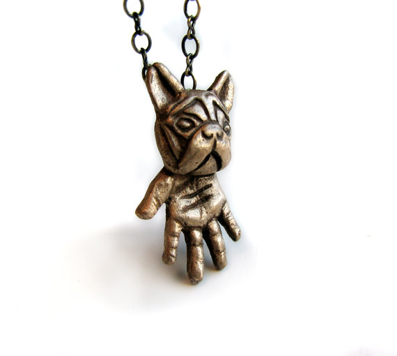 New French Bulldog Necklace Dog Paw Necklace Pet Lover Gift