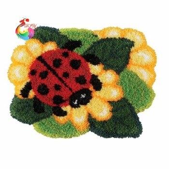 Alfombras y alfombras kits de Bordado de hilo de Cruz agujas de tejer juego de alfombra con gancho de enganche