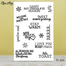 Happy season/Holiday Greetings Stamp for DIY Scrapbooking/Photo Album Decorative Card Making Clear Stamps Supplies