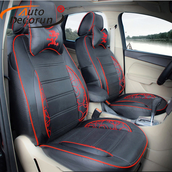 AutoDecorun Custom car seat covers leather for Subaru Tribeca 2007-2012 seat cover set car accessories cushion covers supports