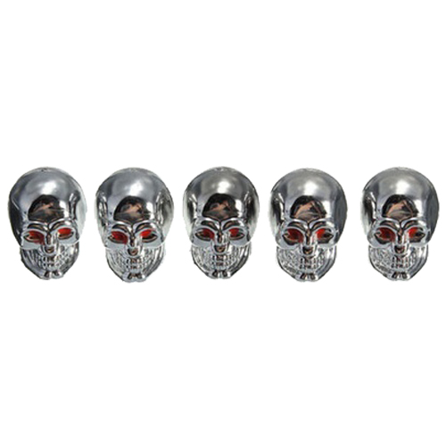 5Pcs Skull Car Motorcycle Auto Wheel Tyre Tire Stem Air Valve Caps