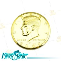 Big Coin Free Shipping Magic Trick Props Toys Half Dollar
