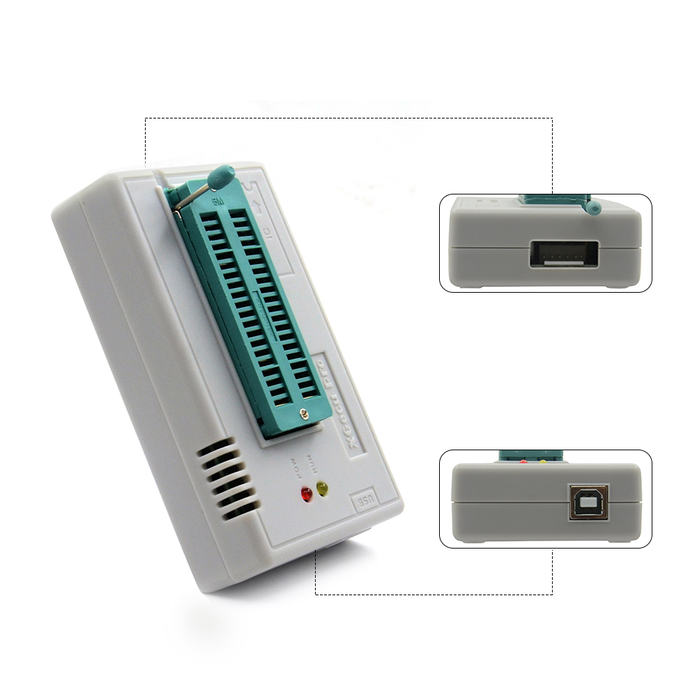 Hot Selling V8.33 TL866II Plus TL866II USB Universal Minipro Programmer Bios Nand flash 24 93 25 mcu New Arrival+4 items-in Calculators from Computer & Office    3