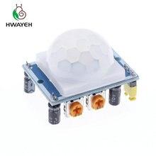 1 шт. SR501 HC-SR501 Регулировка ИК пироэлектрический инфракрасный PIR модуль датчик движения Детектор Модуль для arduinp