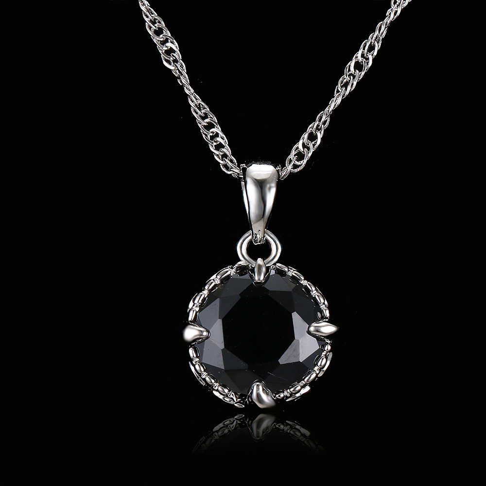 Emmaya Luxury Brand Round Black Crystal Necklace Pendant Vintage Wedding Jewelry Chunky Statement Necklaces