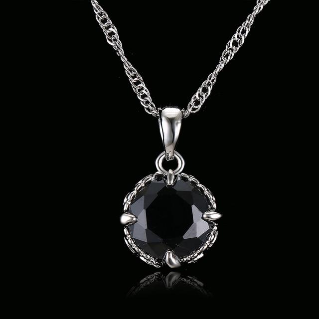 Emmaya Luxury Brand Round Black Crystal Necklace Pendant Vintage Wedding Jewelry Chunky Statement Necklaces
