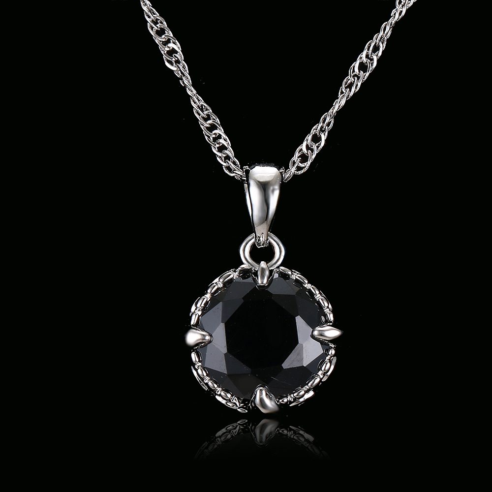 Natural Stone Marble Pendants Necklaces For Women Men Long Chain Black Marbled How-lite Maxi Necklace Gifts Long