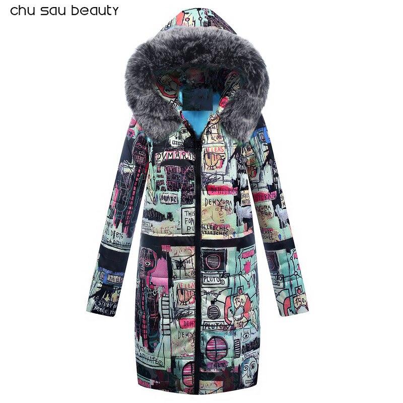 Big Fur 2018 New Parkas Female Women Winter Coat Thick Cotton Winter Jacket Womens Outwear Parkas New Fashion Women  CY1642