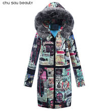 Big Fur 2018 New Parkas Female Women Winter Coat Thick Cotton Winter Jacket Womens Outwear Parkas New Fashion Women CY1642(China)