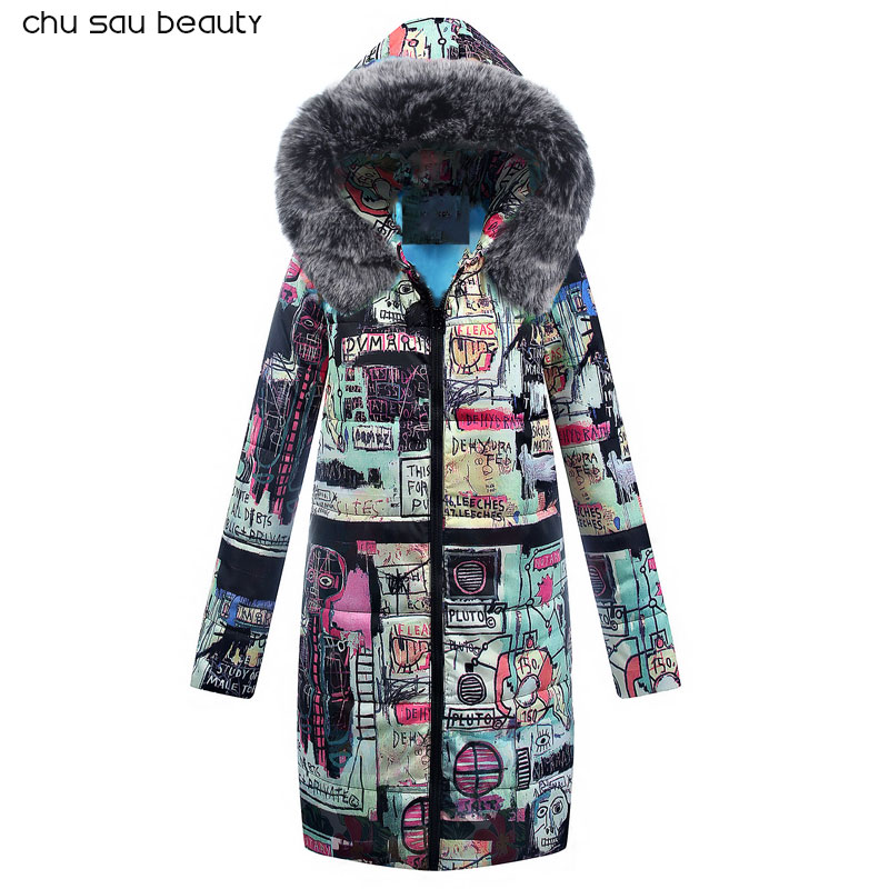Big Fur 2018 New   Parkas   Female Women Winter Coat Thick Cotton Winter Jacket Womens Outwear   Parkas   New Fashion Women CY1642