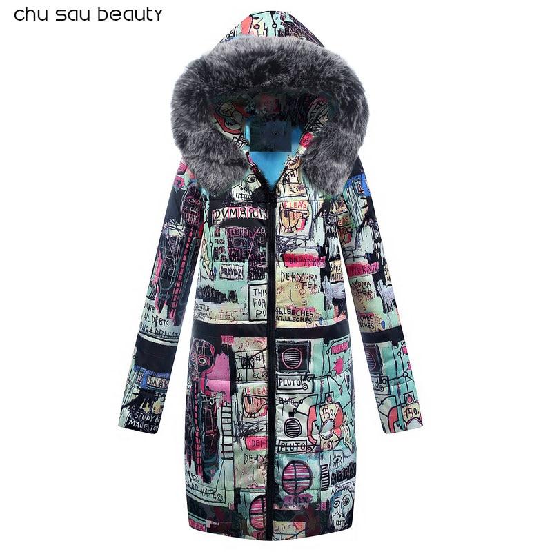Big Fur 2019 New Parkas Female Women Winter Coat Thick Cotton Winter Jacket Womens Outwear Parkas New Fashion Women  CY1642