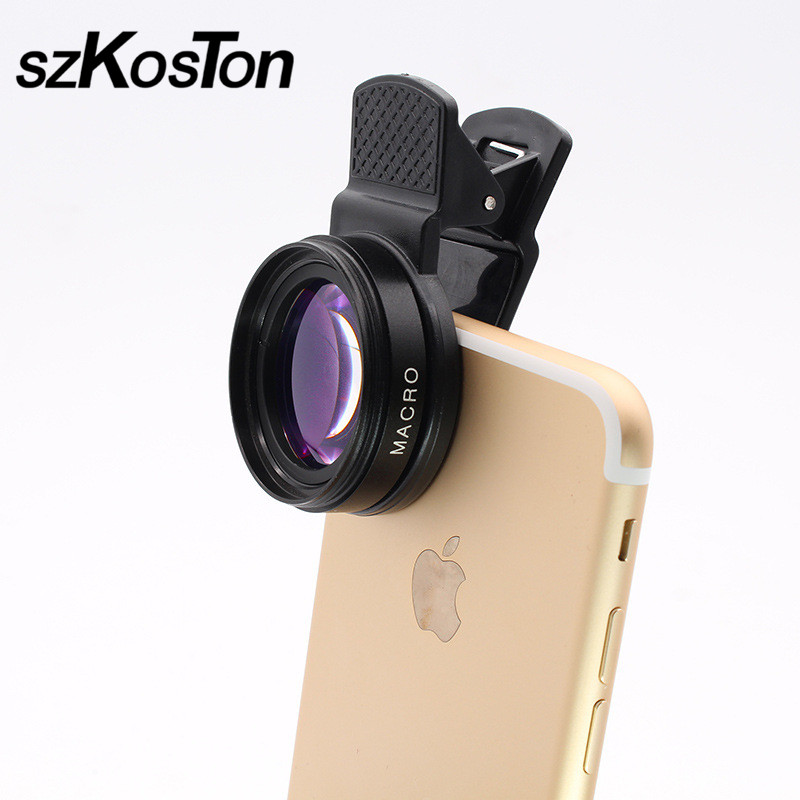 Universal HD Camera Phone Lenses 2 in 1 0.45X Wide Angle 12.5X Macro Lens For iPhone Xiaomi Samsung Phone Lenses With Clip Kits
