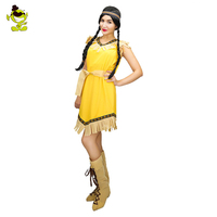 Sexy Indian Woman Costumes Stone Age Cosplay Carnival Halloween Flintstone African Tribal Hunter Indian Costumes