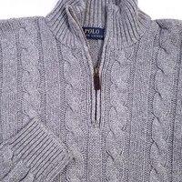 POLO RALPH LAUREN мужские кабель вязать свитер серый шелк SZ M СЗТ $145