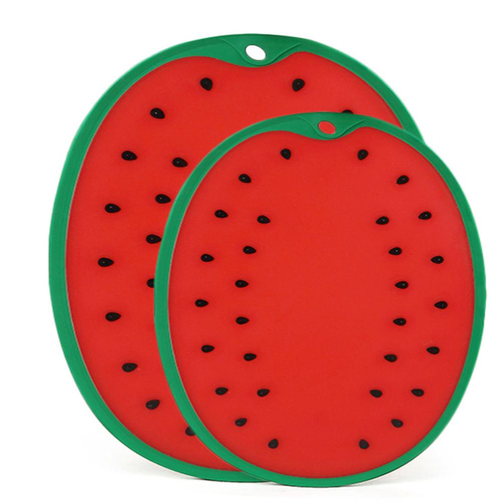 TPFOCUS Thicken Watermelon Shape Chopping Board for Home Vegetable Fruit Cutting Meat Cutting Mat