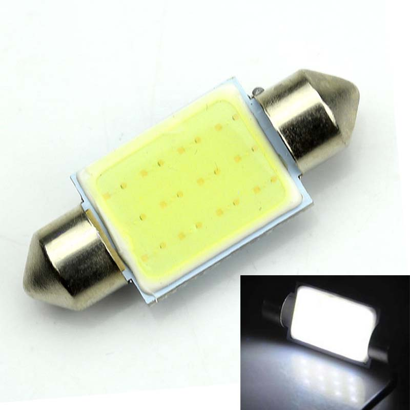 Brand New 2Pcs 36mm C5W White Festoon CANBUS COB LED SMD PLASMA Interior Bulb 12V DC ...