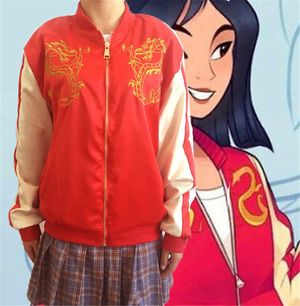 748eab91020 2018 accidente Ralph princesa Mulan chaqueta de dibujos animados Ralph  rompe Internet Mulan Mushu dragón Cosplay