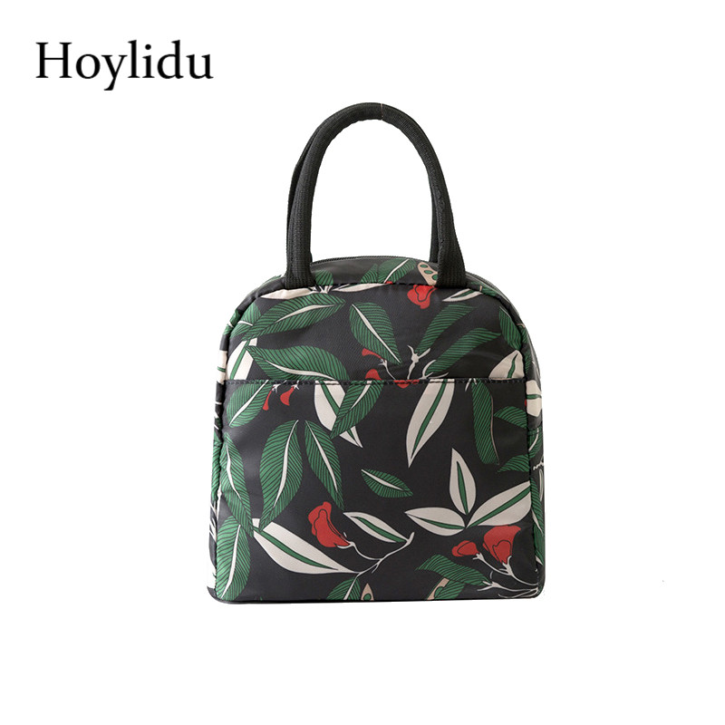 Women Portable Lunch Bags Polyester Waterproof Large Capacity Aluminum Film Thicken Thermal Food Picnic Kid Insulated Cooler Bag