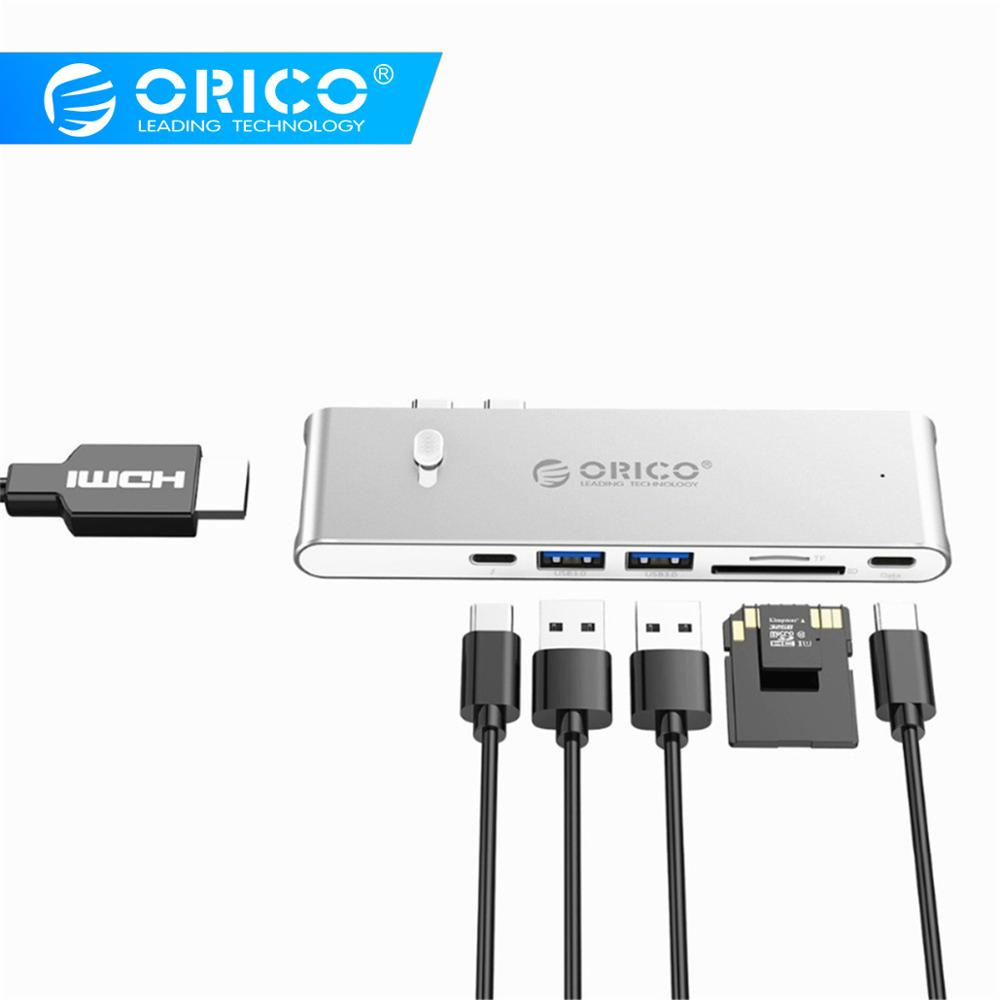orico-usb-hub-type-c-to-hdmi-tf-sd-usb-3-0-thunderbolt-3-adapter-for-apple-macbook-pro-laptop-pc-tablet